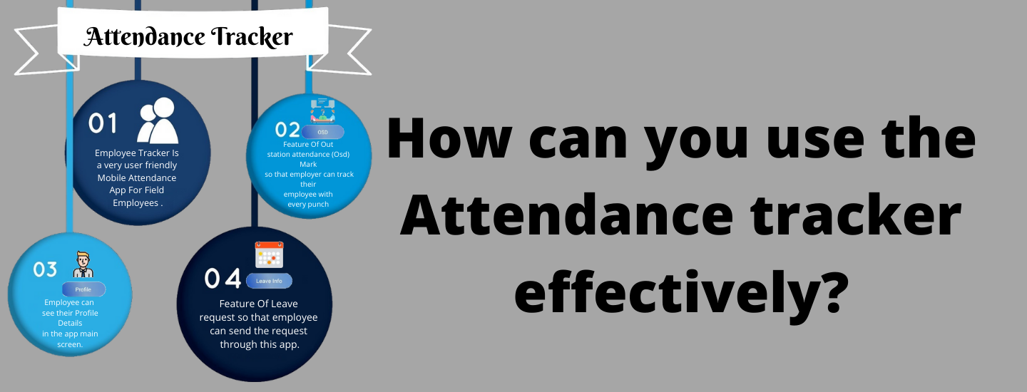 How can you use the Attendance tracker effectively?