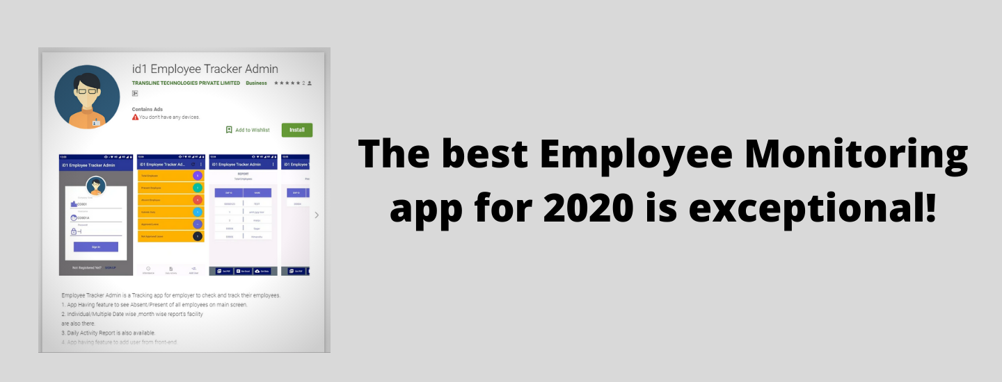 The best Employee Monitoring app for 2020 is exceptional!